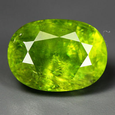 9.70 Cts_World Class Limited Edition_100 % Natural Titanite Green Sphene_Russia