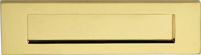 """Stainless Brass Letterplate / Letterbox - 10"""" or 12"""" - 10 Year Finish Warranty"""