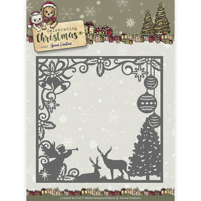 YVONNE CREATIONS ~ CELEBRATING CHRISTMAS ~ SCENE SQUARE FRAME ~ RAHMEN ~ Stanze