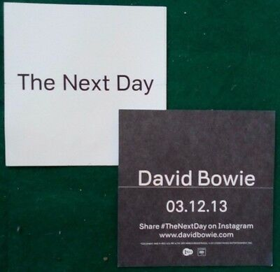 David Bowie - The Next Day - 2013 US official unused promo sticker!