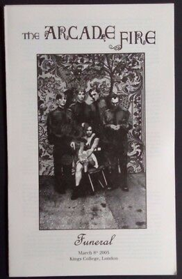 Arcade Fire - Kings College London 2005 funeral service 4-page flyer - look!