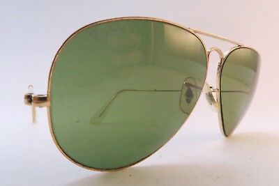 Vintage B&L Ray Ban Aviator sunglasses etched lens size 62-14 made in the USA