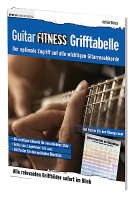 Guitar Fitness Tabla De Digitación óptima Acceso en todas las importante Acordes