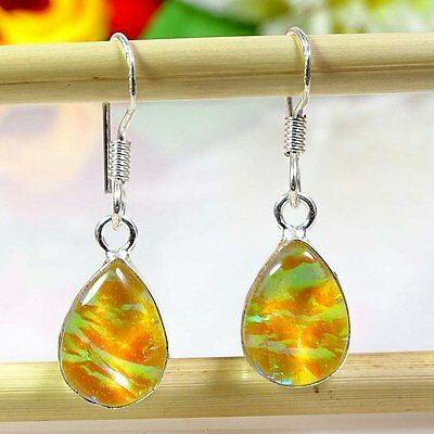Awesome Australian Opal Gemstone .925  Silver Earring 12606