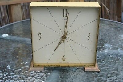 Vintage Brass SMITHS Sectronic Mantel Clock Spares or Repairs