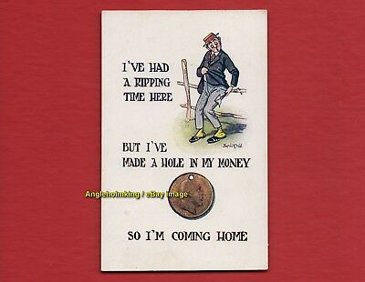 A genuine early Donald McGill postcard - 'I've had a ripping time . . .' Nice!