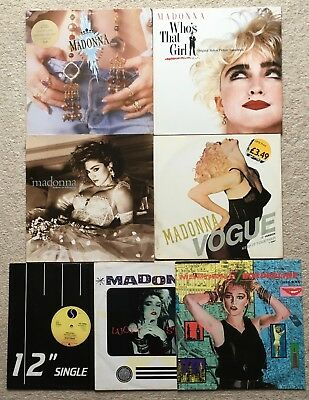 """MADONNA RECORD COLLECTION - 3 x LP's + 4 x 12""""s - LIKE A VIRGIN, PRAYER etc"""