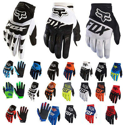 FOX Full Finger Racing Motorcycle Gloves Cycling Bicycle MTB Bike Riding Gloves