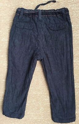 Warm Trousers Baby Boy Dark Blue And Three Socks Infant Winter Size 6-12m Used