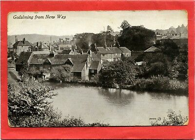 Postcard, Godalming from New Way, Surrey
