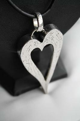 Silver Tone Heart Necklace  ** New In **