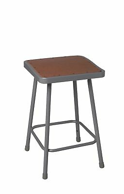 "National Public Seating Square Stool with 24"" Seat Height Range and 300 lb."