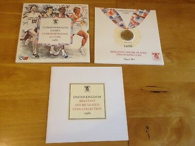 1986 £2 coin Commonwealth Games- BU Presentation Pack