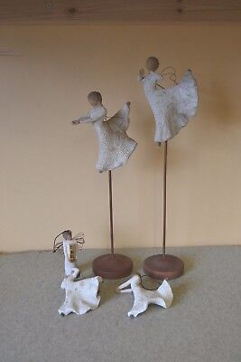 Job Lot of 5 x Willow Tree Ornament Figures Song of Joy Dance of Life Xmas #F