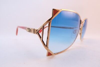 Vintage Cazal sunglasses West Germany blue gradient lenses 59-15 men's medium