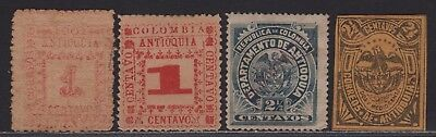 Columbia Antioquia Early Lot of 4 Different