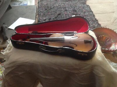 Decorative Miniature Violin In Case/ Approx 9 Inches Long