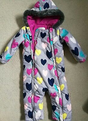 m&s snowsuit all in one coat age 12-18months