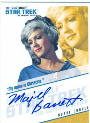 Star Trek TOS Quotable Autograph Card QA6 Majel Barrett