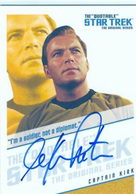 Star Trek TOS Quotable Autograph Card QA1 William Shatner [Im A Soldier]