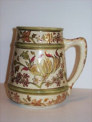 Antique Zsolnay Mug, TJM mark