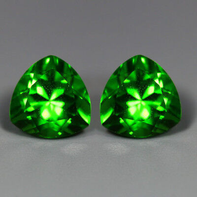 5.52Cts_Amazing Matching Pair_100 % Natural Unheated Parrot Green Moldavite