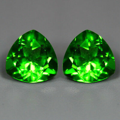 4.81 Cts_Amazing Matching Pair_100 % Natural Unheated Parrot Green Moldavite