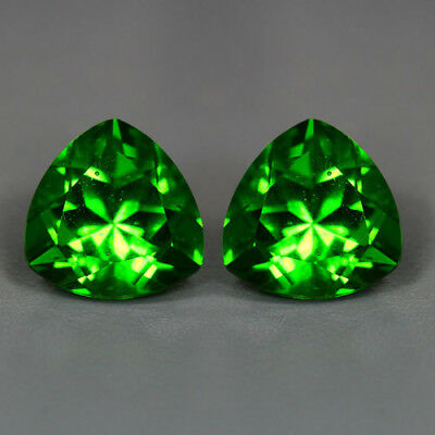 4.95 Cts_Amazing Matching Pair_100 % Natural Unheated Parrot Green Moldavite