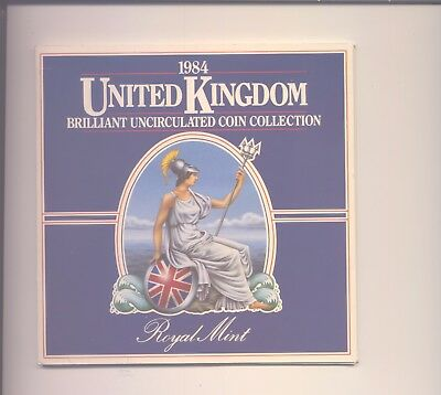 1984 Brilliant Uncirculated Set Of 8 Coins In Royal Mint Folder