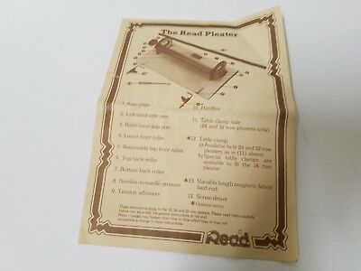 The Read Pleater INSTRUCTIONS ONLY to 16, 24, and 32 Row Pleaters