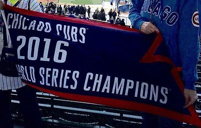 Chicago Cubs 2016 World Series Championship Flag 2x5 ft Deluxe Wrigley Banner