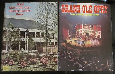 Grand Ole Opry 2 Books History Picture Book  WSM 1974, 1982