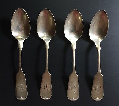 Antique Whiting Manufacturing Sterling Silver Set 6 Spoons 1890 Fiddle Lot