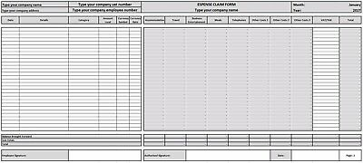 Expense Template (Excel Template)