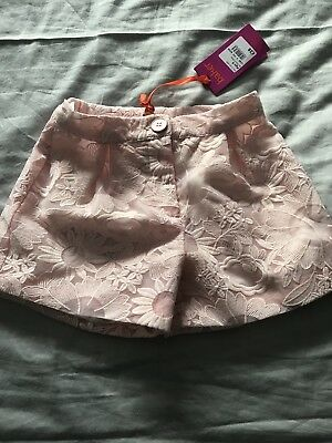 BNWT: Girls Ted Baker Dressy Party Lace Shorts Age 6