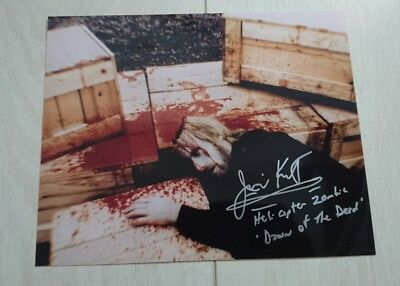 Jim Krut 8x10 Hand Signed Photo 'Helicopter Zombie ' From 'Dawn Of The Dead '
