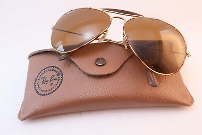 Vintage B&L Ray Ban sunglasses aviator size 62-14 etched lens made in the USA