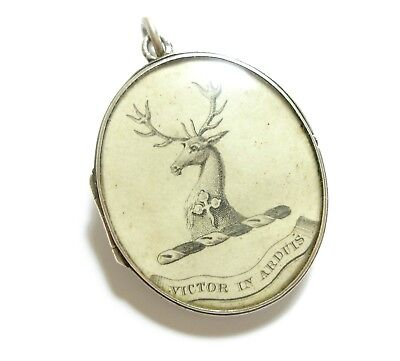 Stunning Old Antique Victorian Silver Double Sided Locket Pendant For Chain (D1)