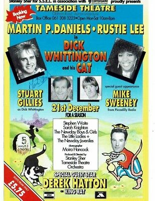 Dick Whittington Tameside Theatre Flyer 8 x 6 Hand signed by Martin Daniels