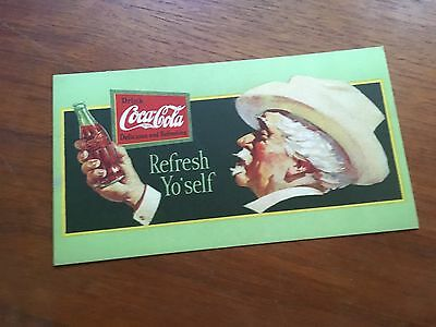 Coca Cola 1928 Ink Blotter Advertising Sign Cardboard Mint Condition!