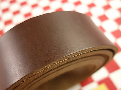 """HORWEEN BROWN CHROMEXCEL LEATHER 10 oz. 102"""" x 1.5"""" STRAP FOR BELT, NAT. QLTY."""
