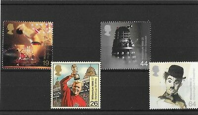 GB 1999 Millenium Series ,The Entertainers Tale unmounted mint set stamps