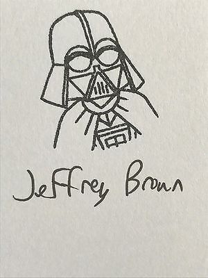 Star Wars DARTH VADER'S LITTLE PRINCESS LEIA Jeffrey Brown SIGNED Book AUTOGRAPH