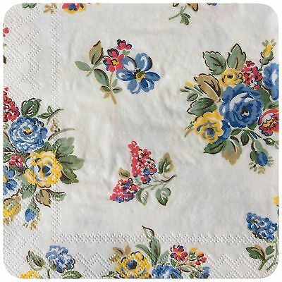 Cath Kidston  Highgate Rose  Paper Napkins X 4 Decoupage Tissue Craft  New