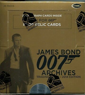 James Bond Archives 2014 Factory Sealed Trading Card Hobby Box