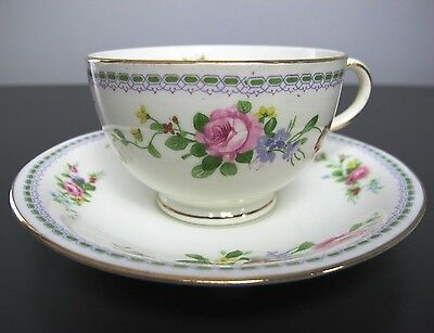 Vintage ALLERTONS Old English Bone China TEA CUP AND SAUCER. Floral