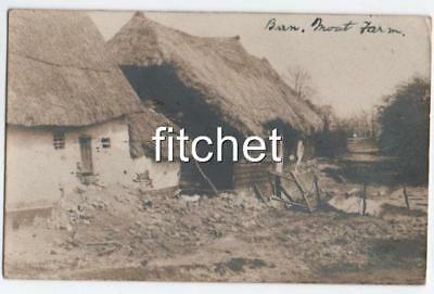 Antique 1903 RPPC Barn at Moat Farm Clavering. Dougal murder of Miss Holland