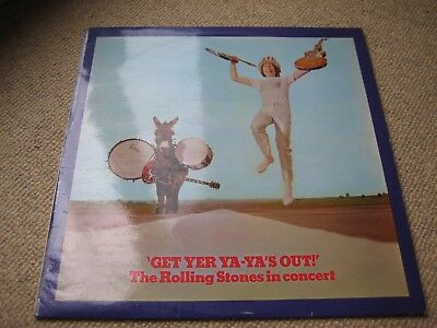 The Rolling Stones Get Yer Ya Ya's Out UK 1st Press - Laminated Rear LP