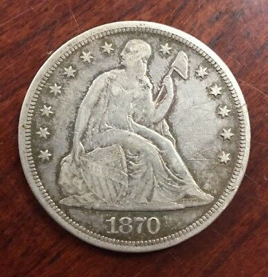 1870 $1 Seated Liberty Silver Dollar Early U.S. High Demand Collectible Coin
