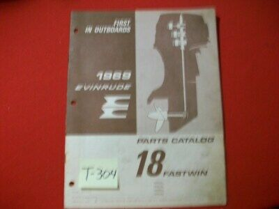 Original Factory 1969 Evinrude Outboard Parts Catalog Fastwin 18 Hp
